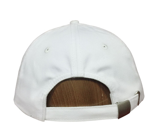 Unstructured white cotton 6 panels cap-BK8112G