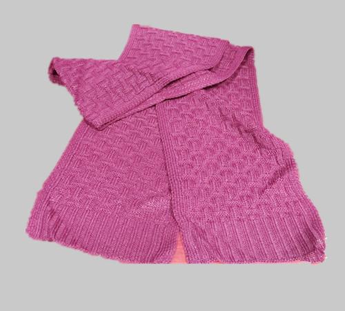 Custom logo acrylic knitting Scarf-BK8910B