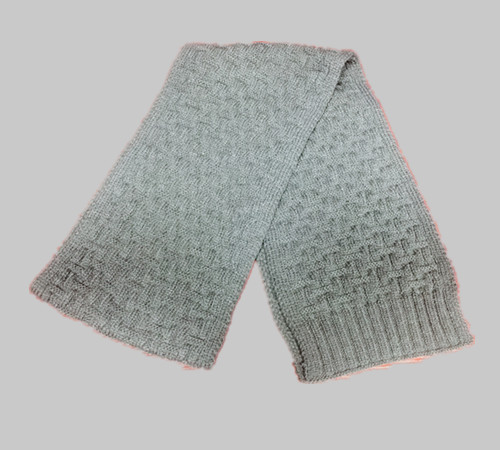 Custom logo acrylic knitting Scarf-BK8910C