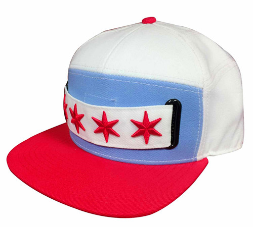 Custom logo embroidery seven panel flat bill Snapback-BK8012E
