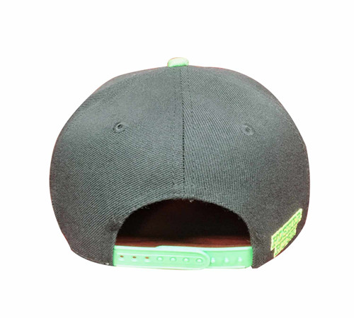 Polyester sublimation flat bill cap snapback-BK8013G