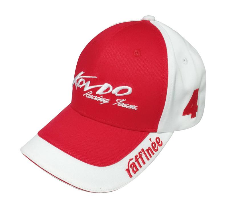 Top quality custom logo embroidery racing sports cap-BK8113D