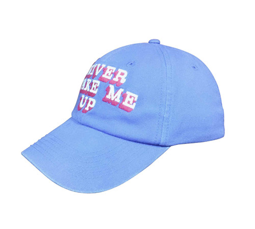 Unstructured cotton twill embroidery cap-BK8114F