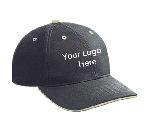 Medium profile contrasting eyelets sandwich baseball cap 4