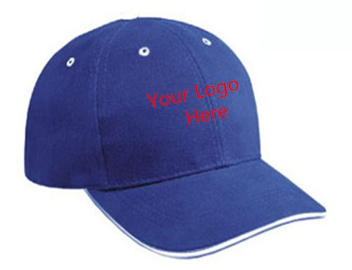 Medium profile contrasting eyelets sandwich baseball cap