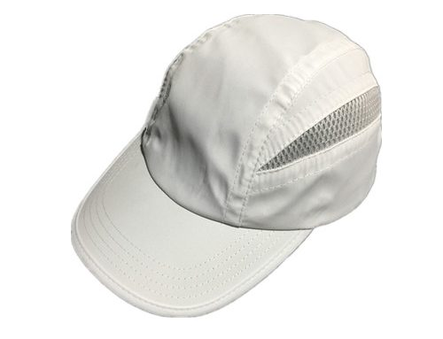 White dryfit performance running cap camper-BK8214