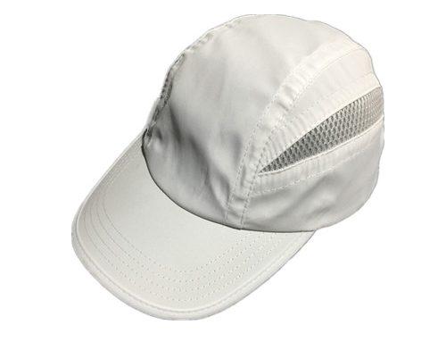 White dryfit performance running cap camper-BK8214