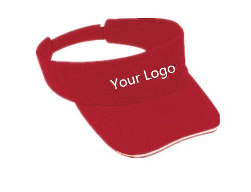 Custom cotton visor