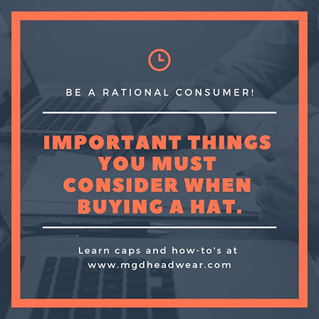 Important things you must consider when buying a hat 1