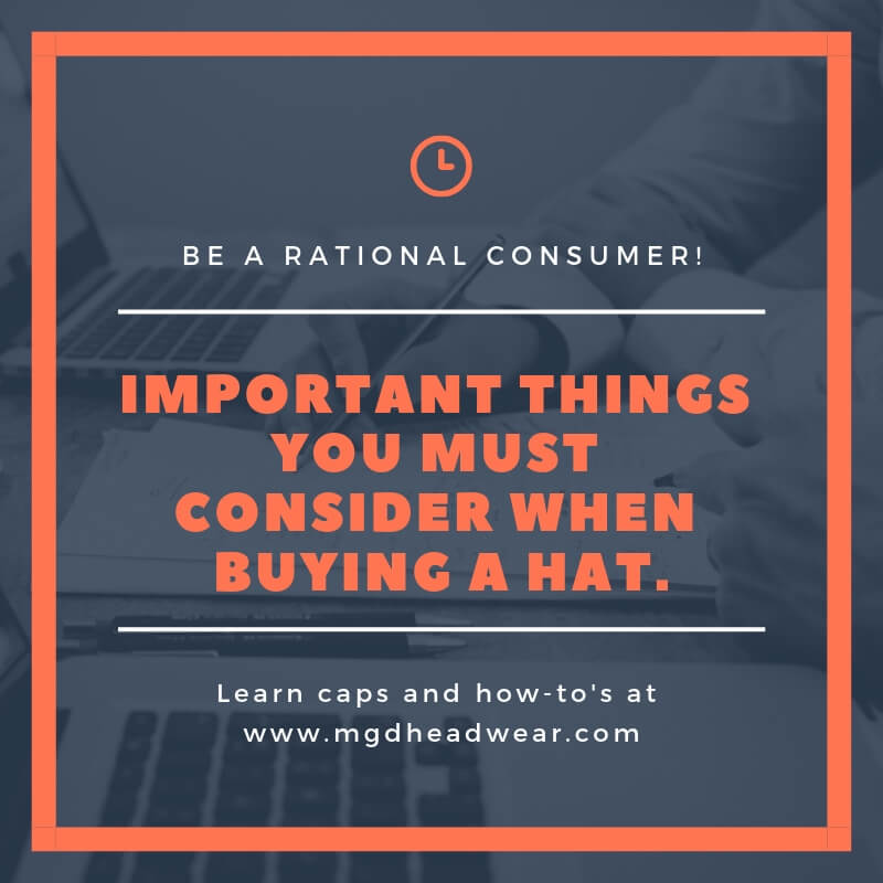 portant things you must consider when buying a hat.