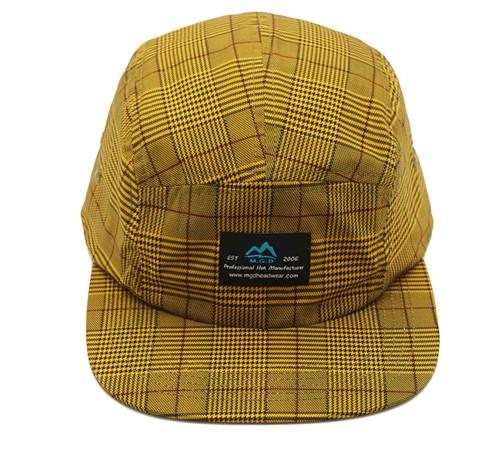 MGD Polyester flat bill camper cap-BK8216