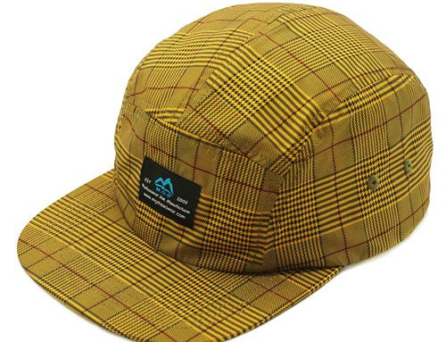Polyester flat bill camper cap-BK8216