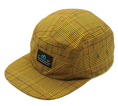 MGD Polyester flat bill camper cap-BK8216B