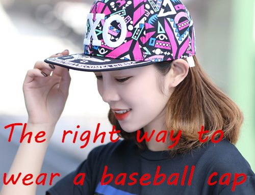 The right way to wear a baseball cap